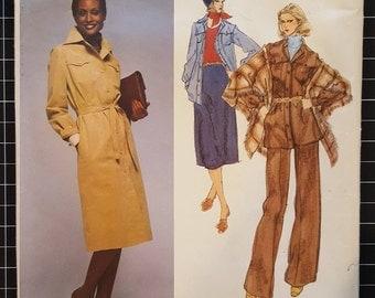 Vintage Vogue Paris Orginial Pierre Balmain Trench Coat Pattern 1570 Size 16