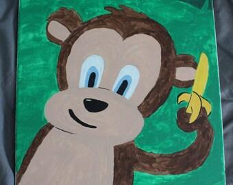 Cartoon Monkey Painting