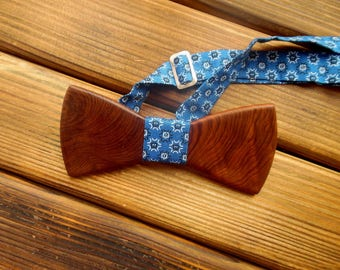 Wood bow tie Holiday bow tie Wooden bowtie Christmas bow tie Wedding bow tie Groomsmen tie Boyfriend Birthday gift for him Father's day gift