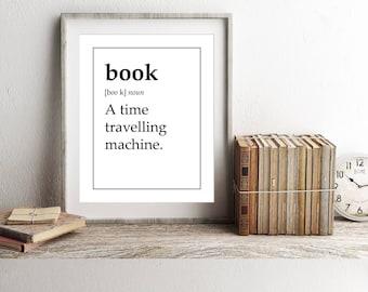 Book Definition, Book Art Print, Bookworm, Book Lover, Gift for Bookworm, Bookworm Art Print, Bookish Gift, Bookish Wall Print, Book Art