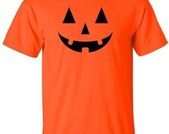Halloween Jack O'Lantern Adults T-Shirts. 3 T-Shirts Colors & 3 Print Colors