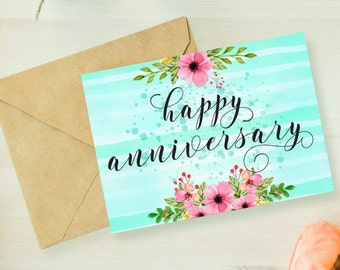 Anniversary card printable,anniversary card for parents,anniversary greeting card husband,first anniversary gift,wedding anniversary card