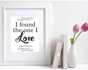 "NWT Bible ""I found the one I love""/Song of Solomon 3:4/Jw Prints"