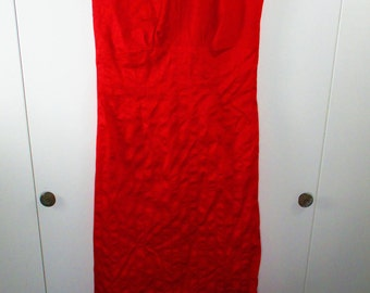 Vintage Tight Red Tube Dress