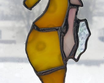 Stained Glass, Seahorse Sun Catcher