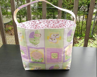 Fabric basket baby caddy diaper caddy basket organizer storage toys organizers bags organizer basket