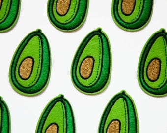 Tropical Patches Avocado - Patch Fruit - Green Patch - Pop Culture Gift - Embroidery Patch - Fruit Sew on Patch - Avocado Iron-on Patch
