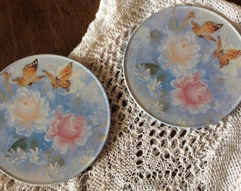 Box of 6 french vintage coasters