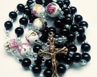 catholic rosary,confirmation,first communion,black rosary,rosaries,roman catholic rosary,