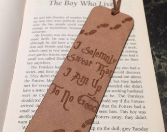 Harry Potter Inspired 'I Solemnly Swear' Bookmark - Laser Engraved