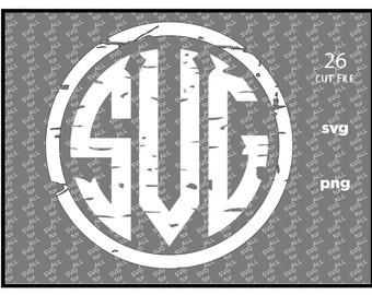 Monogram alphabet svg, grunge monogram svg, Circle Monogram alphabet. Font svg, Distressed font, monogram svg, Svg, eps, cricut, silhouette