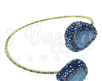 Crystal Trim Bracelets  Natural Gemstones, Swarovski Accents
