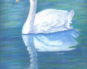 "Giclée Print ""Swan Pond"""