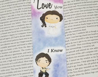 Star Battles I LoveYou I Know - Geeky Bookmark