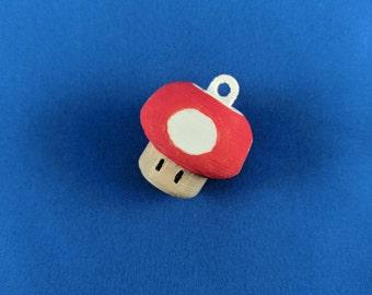Mario Mushroom Keychain