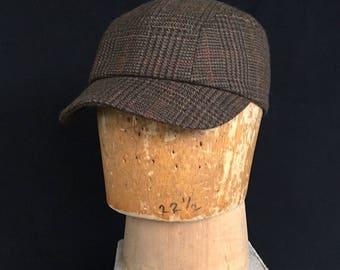 CAMPBELL - Pocket Cap - Brown Plaid Wool