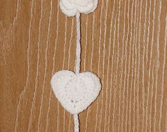 Hearts and Flowers wall hanging
