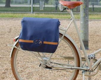 Bike pannier/ bicycle bag/ cycle bag/ bag pannier/ bike bag/ waterproof bag/ simple pannier/ women bike bag/blue