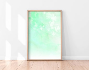 Green Wall Art, Digital Print, Abstract Wall Art, Printable Wall Art, Digital Download, Instant Download Printable Art, Printable Poster