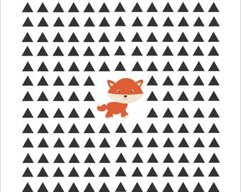 Fox in the woods A4 wall print