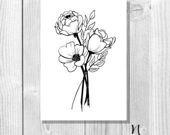Floral bouquet - A6 Postcard