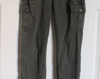 7 for all mankind/[SIZE 25]/ cargo style slim fit/army green