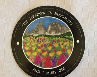 The mountain meadow sticker