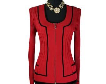 Cache Red Silk Jacket