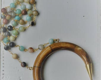 Brown Horn Necklace