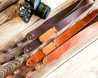 Camera strap Leather camera strap DSLR camera strap SLR Canon camera strap Nikon camera strap Camera strap vintage Gift Personalized