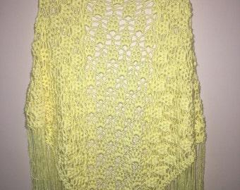 Light Yellow Crochet shawl
