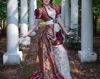 Unique Wedding Dress | Victorian Dreams | Steampunk Bridal Gown, Victorian Wedding Dress, Tea Party Dress, Ivory Wedding Dress, Bustle Dress