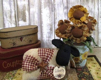 Primitive Country Sheep Shelf Sitter