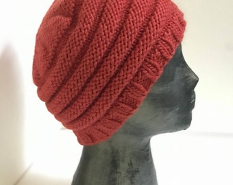 Cinnamon Knitted Wool Slouch Beret