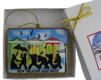 New Orleans Jazz Band Christmas Ornament New Orleans gift French Quarter Second line gift Nola favor decoration decor tree wedding w BOX Xm