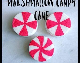 Marshmallow Candy Cane Bath Bomb - Sparkle Bomb - Handmade Bath Bomb - Artisan Bath Bomb - Bath Fizzy - Sparkle Bath Bomb