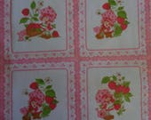 1 Yard 14 Inches 1980's American Greetings Strawberry Shortcake Quilting/Sewing Crafts