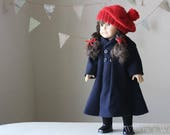 "Mary Lennox's ""Secret Garden"" Coat and Tam Set for 18"" American Girl Dolls"
