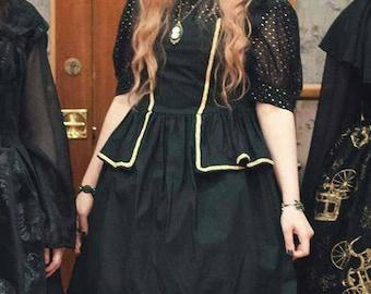 Gold Gothic Lolita  Dress JSK, Goth, Pirate Lolita, Victorian, Custom Size and Color, Plus size