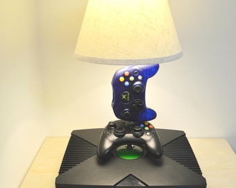 Original Xbox Desk Lamp Light Sculpture with lampshade