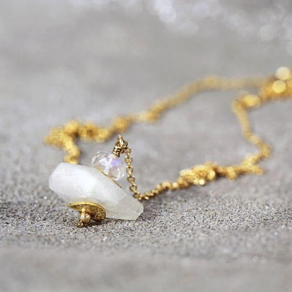 Moonstone Necklace - Bridal Wedding Necklace