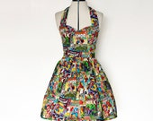 Marvel dress-comic book, superhero, avengers, Womens halterneck