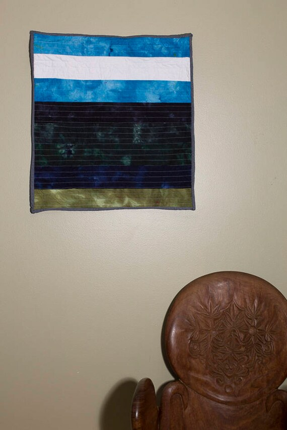 Blue Skies Quilt, Quilted Wall Hanging