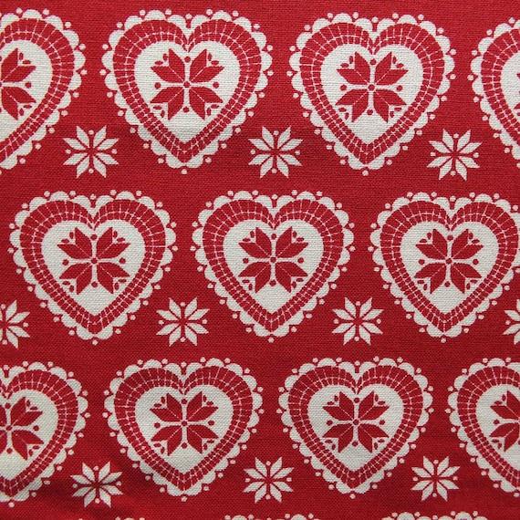 Hearts and Stars Fair Isle Scandi Inspired Christmas Printed 100 ...