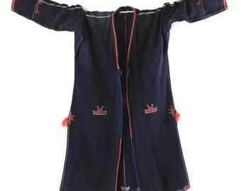children's vintage dzao jacket, tribal jacket, hill tribe jacket, small dzao jacket, handmade jacket, dzao jacket