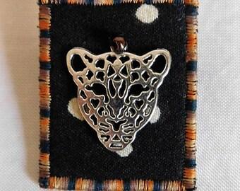 Big Cat Fabric Pin