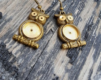 Watch Part Steampunk Fashion-- Owl Earrings --Jewelry Clock Gears Gift For Her Steampunk Clothing Victorian Western Outfit
