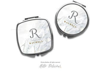 Compact Mirror Purse Mirror Personalized Mirror Travel Mirror Custom Gift Purse Mirror Marble Mirror Bridesmaid Gift Mirror Makeup Mirror 1.