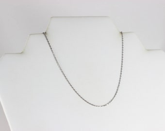 Sterling Silver Chain Necklace 18 inch Chain