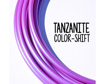 NEW Tanzanite Color-Shift 5/8 + 3/4 Polypro Hoops ~ Purple Pink ColorMorph Polypro Hoops, FestivalTreasures, Fast Shipping